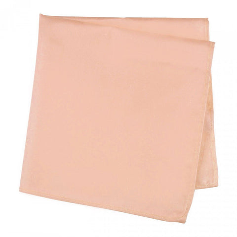 Dusty Salmon Silk Handkerchief