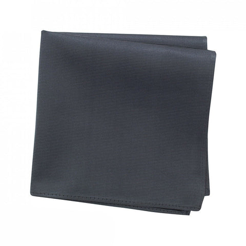 Plain Charcoal Woven Silk Handkerchief