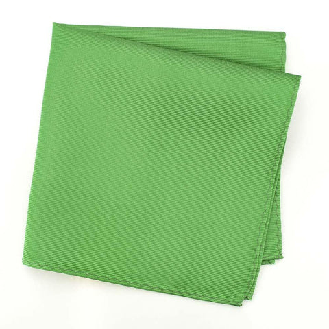 Emerald Green Woven Silk Handkerchief