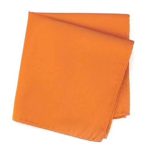 Plain Orange Woven Silk Handkerchief