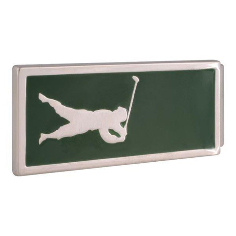 Green Golfer Money Clip