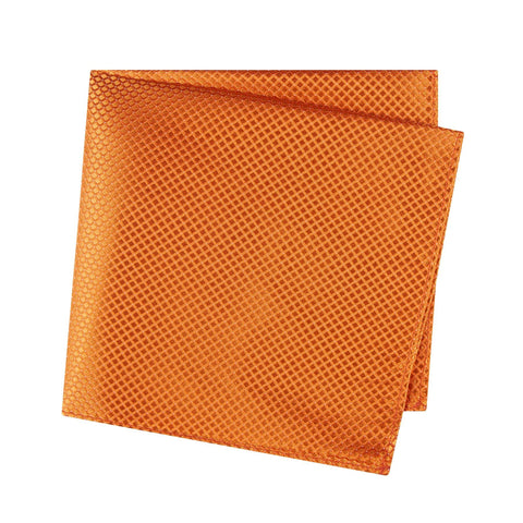 Orange Micro Square Woven Silk Handkerchief