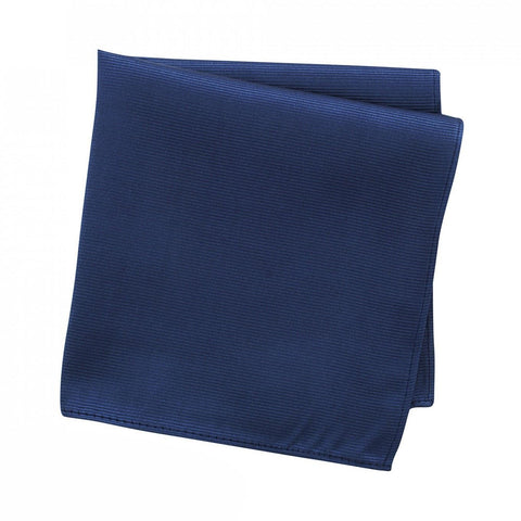 Plain Denim Blue Woven Silk Handkerchief