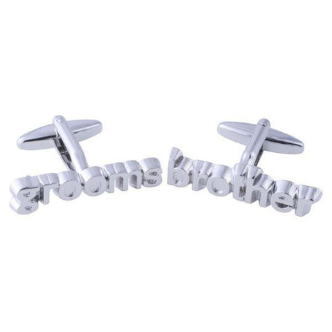 Silver Grooms Brother Cufflinks