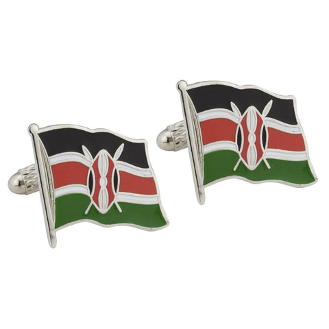 Kenyan Flag Cufflinks