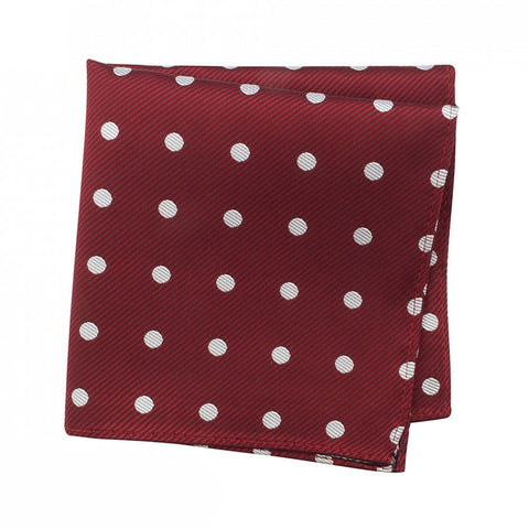 Red Silk Handkerchief With White Polka Dots