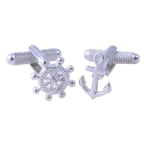 Anchor & Ships Wheel Cufflinks
