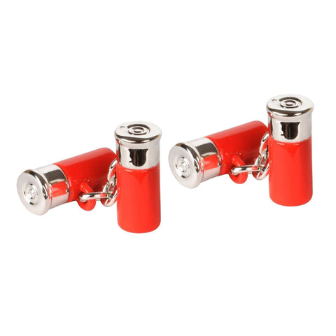 Red Shotgun Cartidge Cufflinks