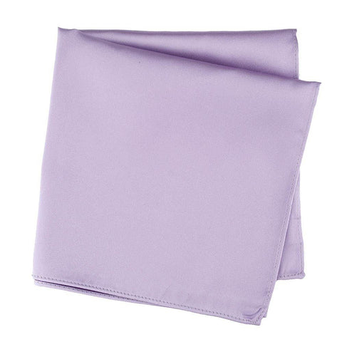 Plain Light Lilac Silk Handkerchief