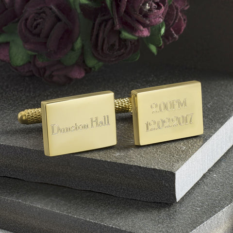 Time, Date and Venue Wedding Cufflinks