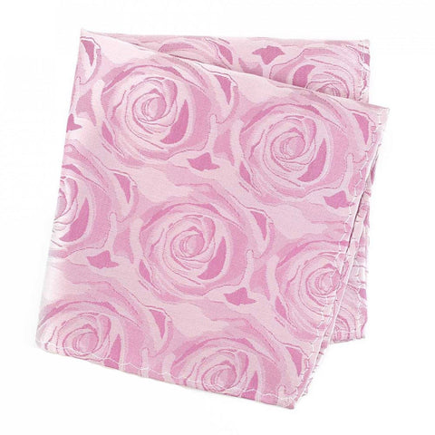 Fuchsia Rose Luxury Woven Silk Handkerchief