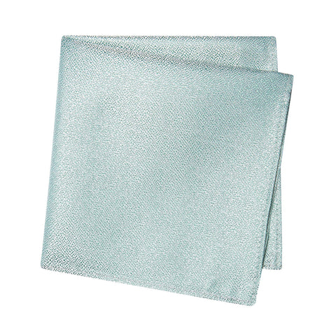 Pastel Mint Textured Woven Silk Handkerchief