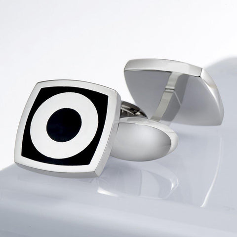 Black Square & Circle Cufflinks