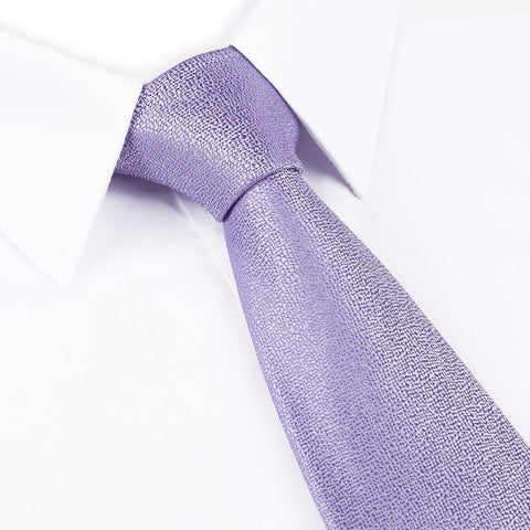 Pastel Purple Textured Woven Silk Tie