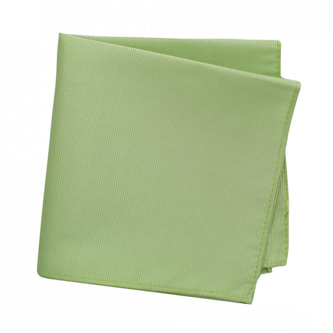 Plain Pale Green Woven Silk Handkerchief