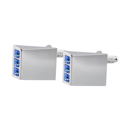 Blue Crystal Wedge Cufflinks