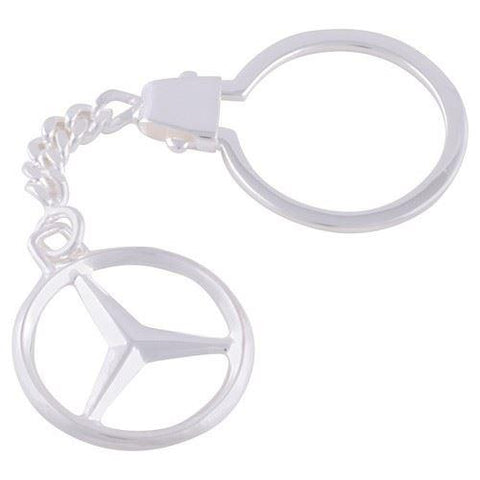Sterling Silver Plated Mercedes Benz Keyring