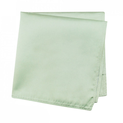 Plain Mint Silk Handkerchief