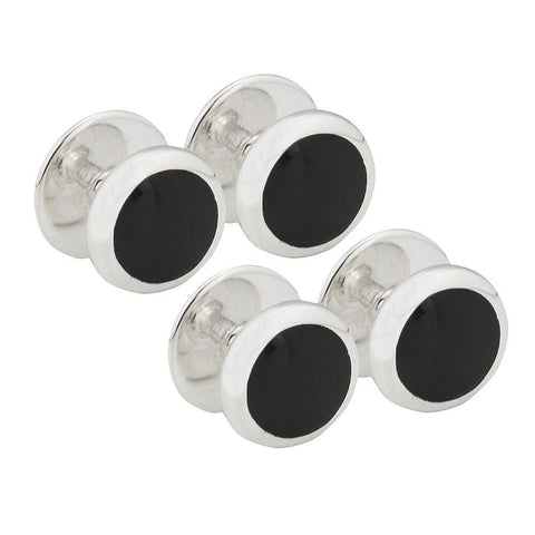 Sterling Silver Onyx Shirt Studs
