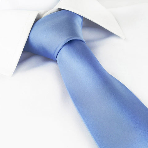 Plain Light Blue Tie