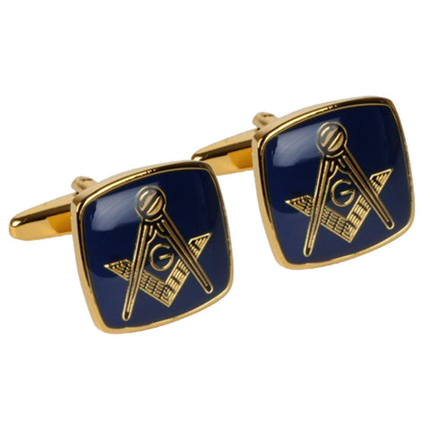 Blue and Gold Masonic Cufflinks