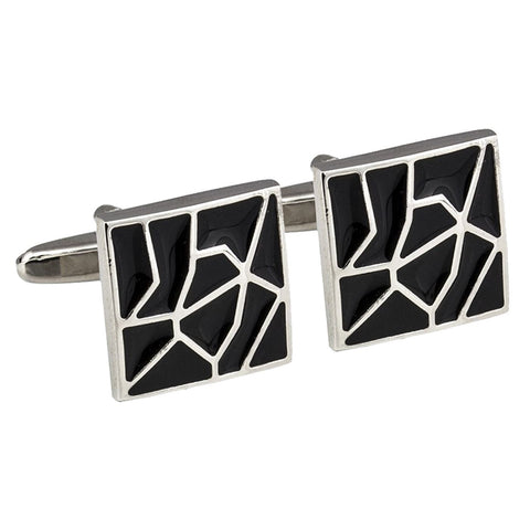 Cracked Black Cufflinks