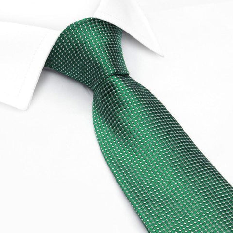 Emerald Green Silk Lattice Tie
