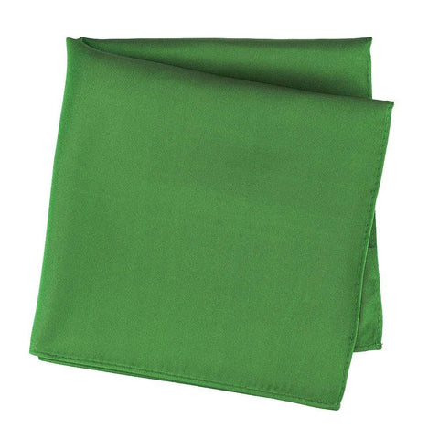 Plain Emerald Silk Handkerchief