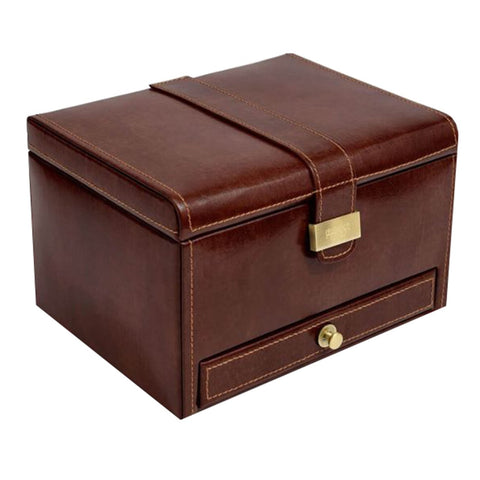 Heritage Brown Luxury Watch & Cufflink Box