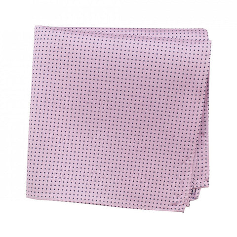 Pink Neat Pin Dot Silk Handkerchief
