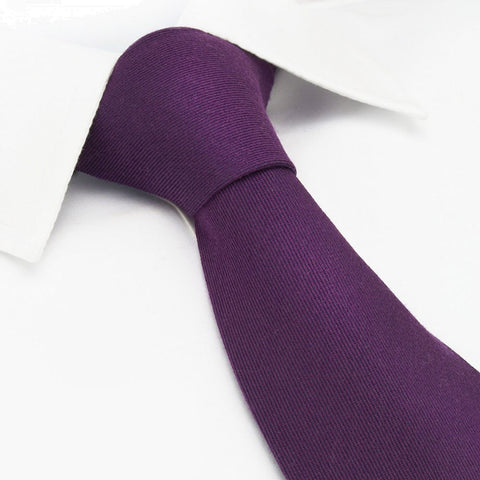 Plain Purple Wool Mix Tie