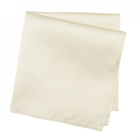 Plain Ivory Silk Handkerchief