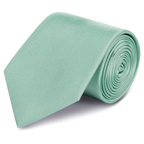 Plain Mint Green Silk Tie