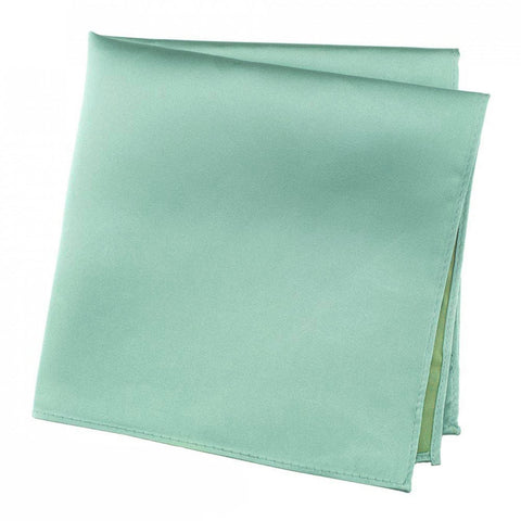 Plain Mint Green Silk Handkerchief