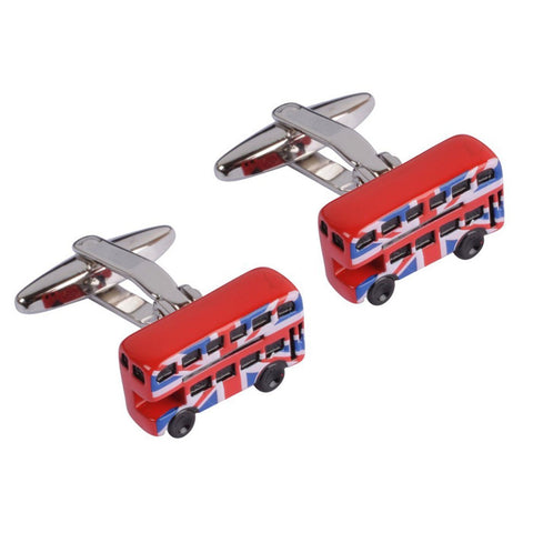 Union Jack London Bus Cufflinks