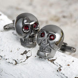 Executive Grey Skull Cufflinks