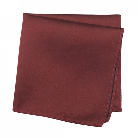 Plain Claret Silk Handkerchief