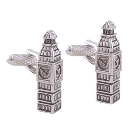 Rhodium Big Ben Cufflinks