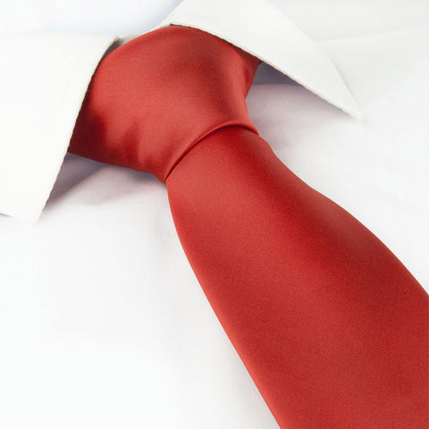 Plain Red Tie