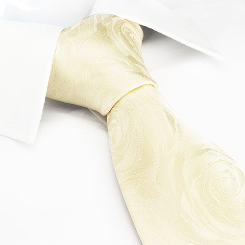 Ivory Rose Luxury Woven Silk Tie