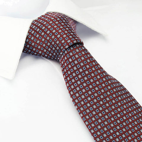 Heritage Wine Neat Patterned Luxury Silk Tie