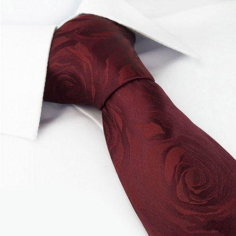 Wine Rose Luxury Woven Silk Tie