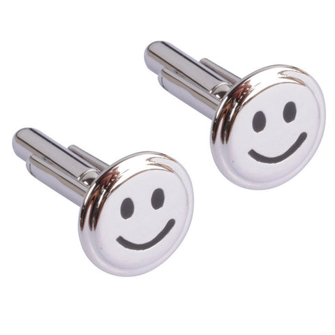Silver Smiley Face Cufflinks