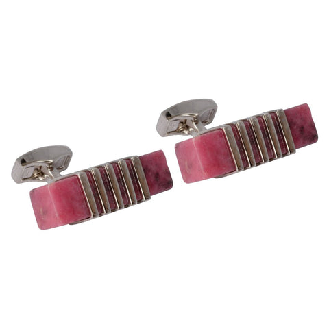 Rhodonite Stone Cufflinks