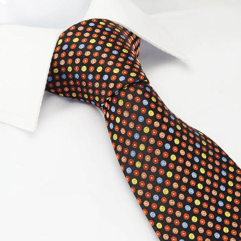 Orange Multi Spot Luxury Silk Tie