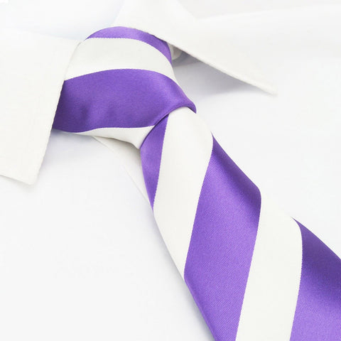 Lilac & White Striped Tie