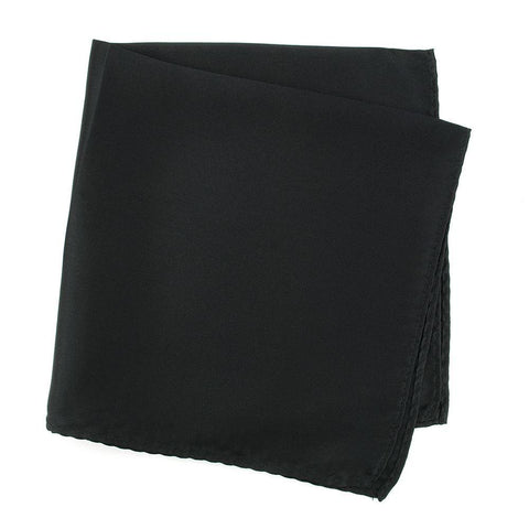 Plain Black Silk Handkerchief