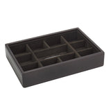 Stacker Chocolate Brown Cufflink Tray