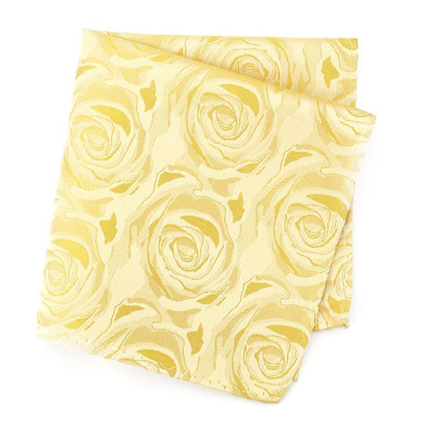 Gold Rose Silk Handkerchief