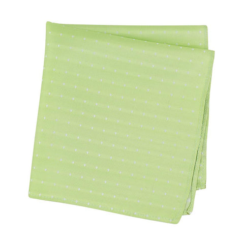 Pastel Green Polka Dot Woven Silk Handkerchief